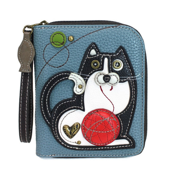Fat Cat Zip Around Wallet