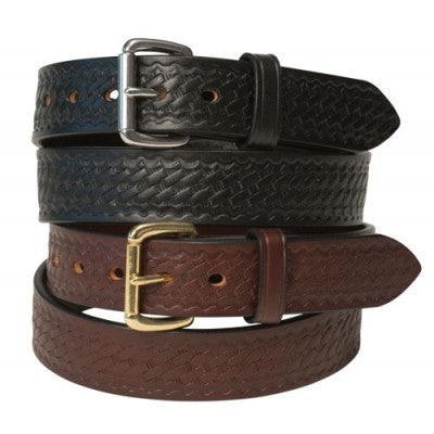 1.5'' Basketweave Embossed Harness Leather Belt