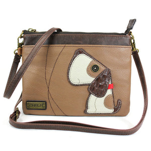 Convertible Toffy Dog Crossbody with Bone Zipper Pull