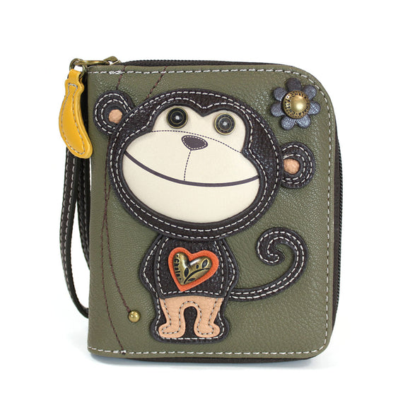Monkey Zip Around Wallet