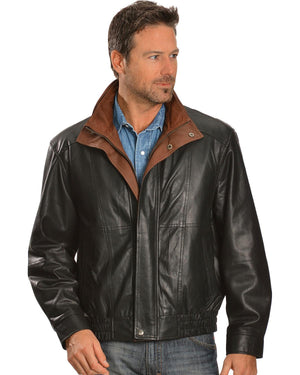 Men's Double Collar Leather Jacket