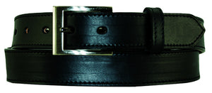 "1.25"" SLG Stitched English Bridle Leather Dress Belt"