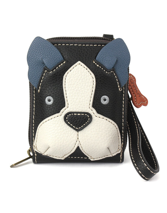 Boston Terrier Cute C -  Credit Card Case Wristlet