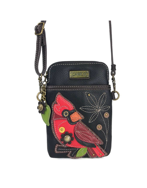 Cardinal Cellphone Crossbody - Black