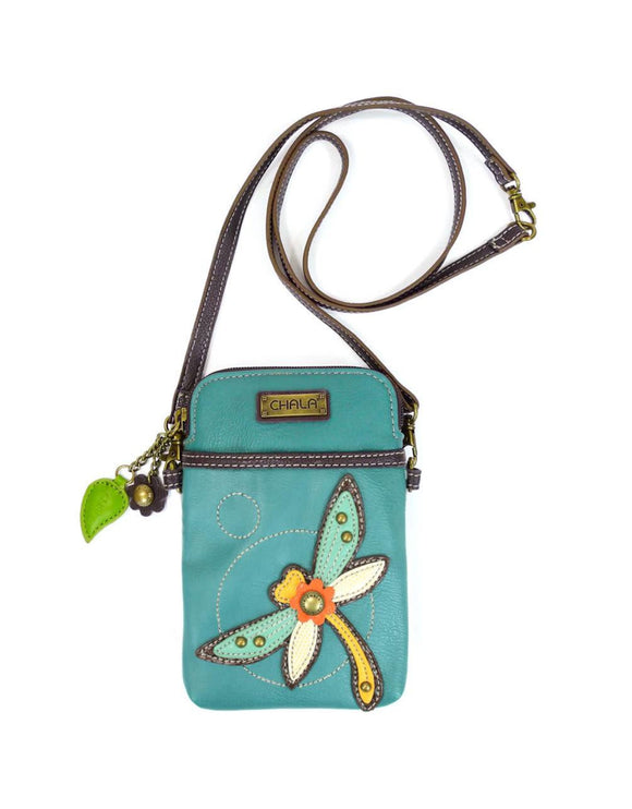 Dragonfly Cellphone Crossbody - Turquoise