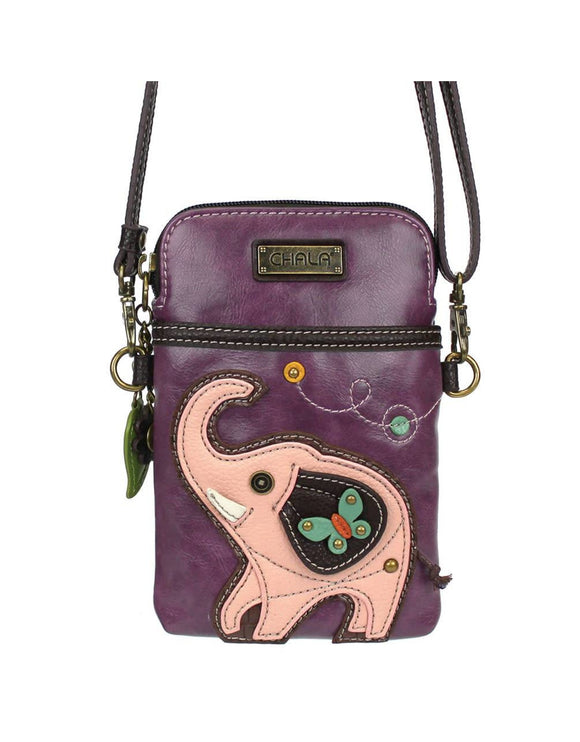 Elephant Cellphone Crossbody - Purple