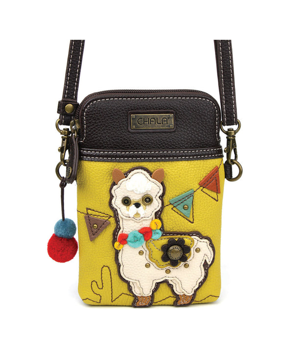 Llama Cellphone Crossbody - Mustard