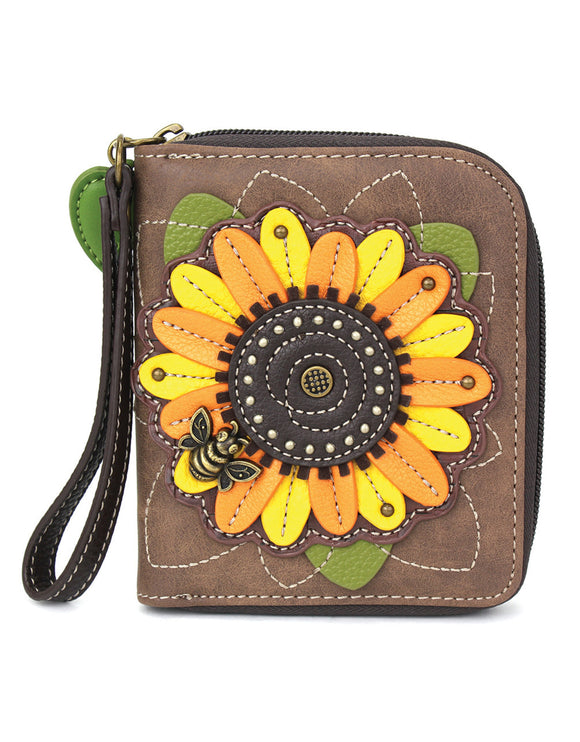 Sunflower Zip Around Wallet -