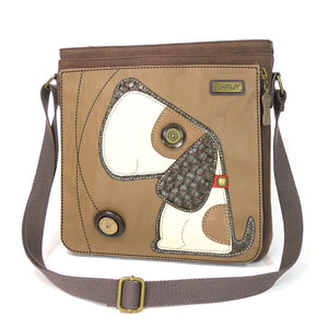 Toffy Dog Messenger Bag-Brown