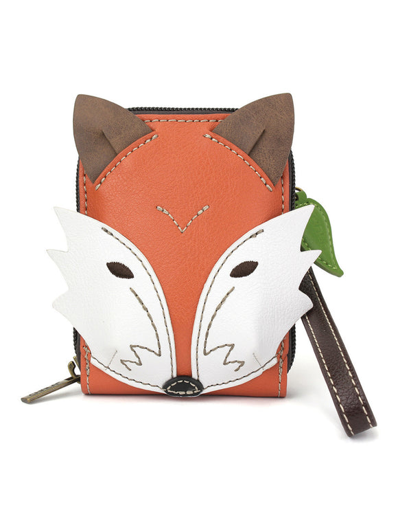 Fox Cute C -  Credit Card Case Wristlet