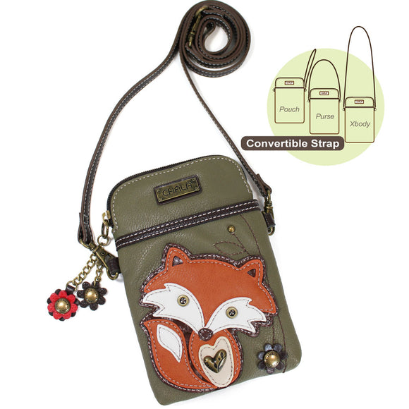 Fox Cellphone Crossbody - Olive