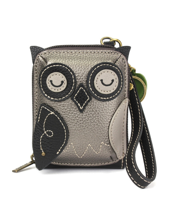 Owl Cute C -  Credit Card Case Wristlet