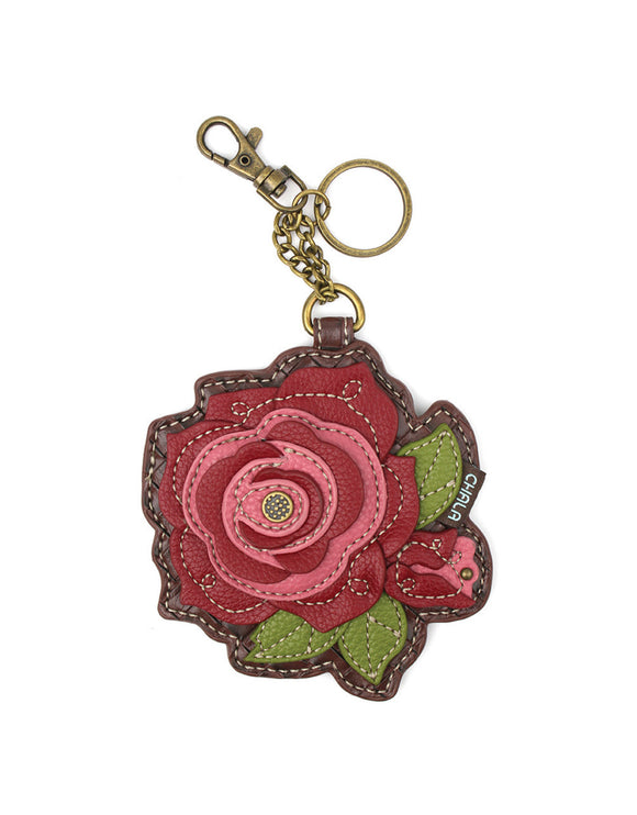 Red Rose Key Chain/Coin Purse