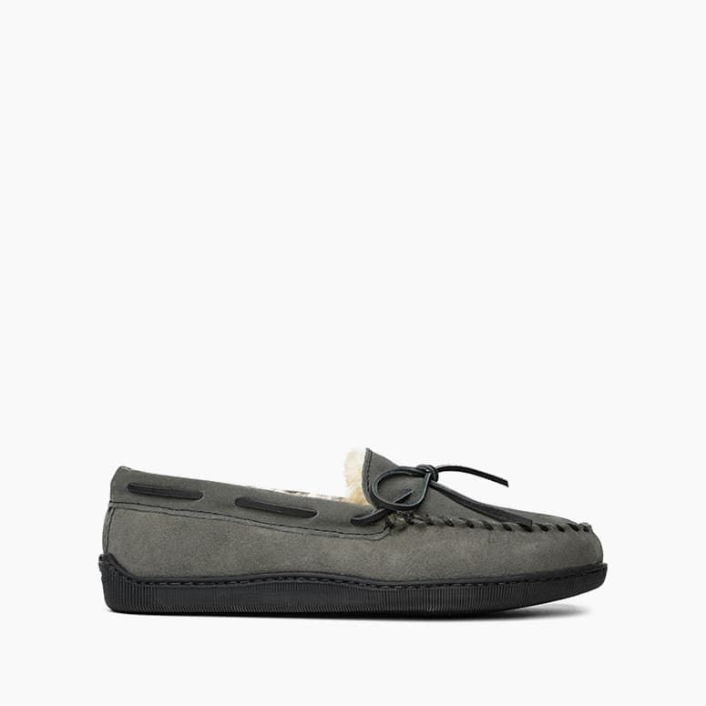 Sheepskin Hardsole Slipper - Grey