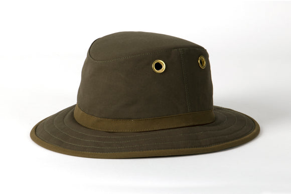 Outback Waxed Cotton Hat - Olive