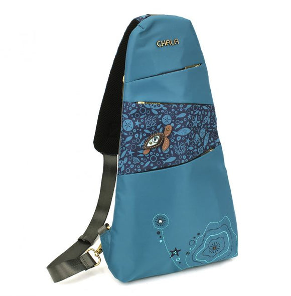 Turtle Sling Backpack - Turquoise