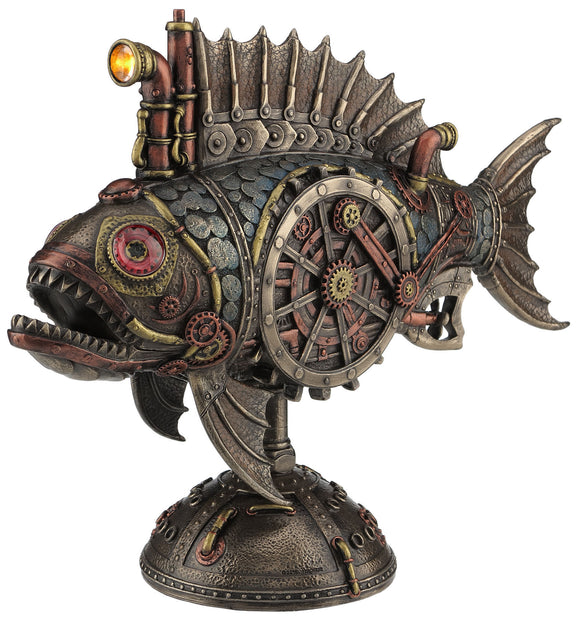 Steampunk Fish Submarine with Working Light