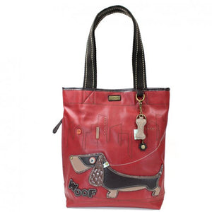Weiner Dog Everyday Tote-Red