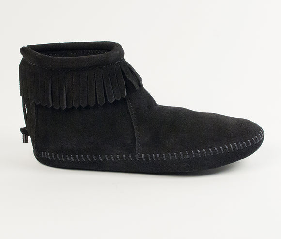 Back Zip Softsole Boot - Women's - Black