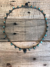 Lava Essential Oil Diffuser Necklace - Aromatherapy Diffuser - Essential Oil Jewelry - African Turquoise Crochet Necklace