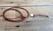 Leather Essential Oil Diffuser Necklace - Aromatherapy Diffuser Essential Oil Jewelry Leather Freshwater Pearl Necklace