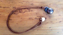 Beach jewelry - Leather and Large Baroque Flameball Pearl Necklace - Peacock Freshwater Pearl Boho Beach