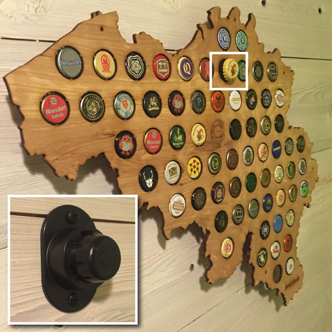 The Original Beer Cap Maps - Germany beer cap map