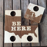 "Bottle Opener Coaster Set - ""Beer Here"""
