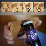 Bottle Opener Coaster Set - World Map