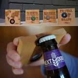 Bottle Opener Coaster Set - Beer Sayings
