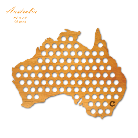 Country Map Of Australia.Country Beer Cap Maps