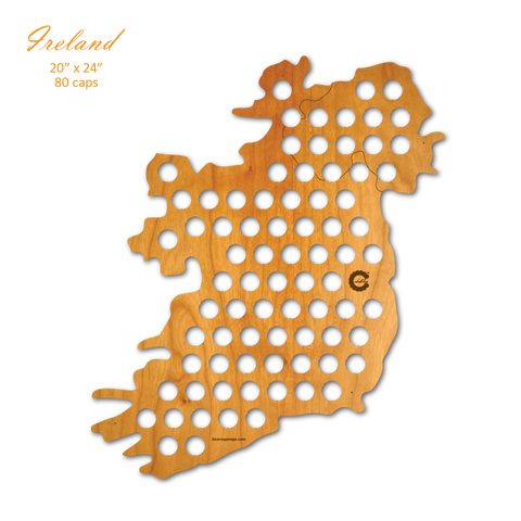 Country Map Of Ireland.Country Beer Cap Maps