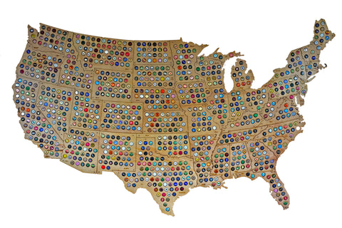 USA Puzzle Beer Cap Map Beer Cap Maps - Michigan bottle cap map