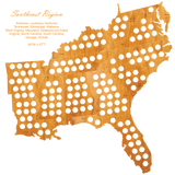 Wood USA Puzzle Map