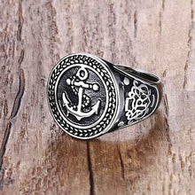 Anchor Stainless Steel Ring For Men Nautical Ring Nautical Jewelry