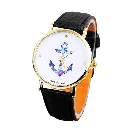 Vintage Flower Anchor Watch for Women