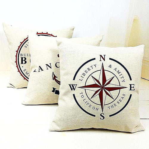 Nautical Style Anchor Cushion Covers