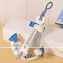 Nautical Style Wooden Anchor Thermometer Nautical Home Decor