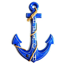 Handmade Wooden Anchor Wall Hanging Ornament Nautical Home Decor