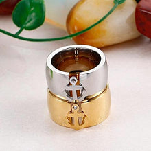 Stainless Steel Anchor Wedding Ring for Women Nautical Jewelry