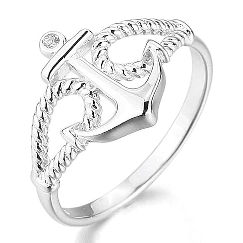 Sterling Silver Vintage Anchor Ring for Women Nautical Nautical Ring Nautical Jewelry