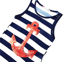 Mum and Daughter Summer Anchor Dress Nautical Fashion Style