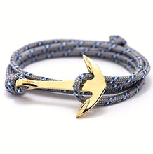 Multi-layer Leather Charm Anchor Bracelet for Women