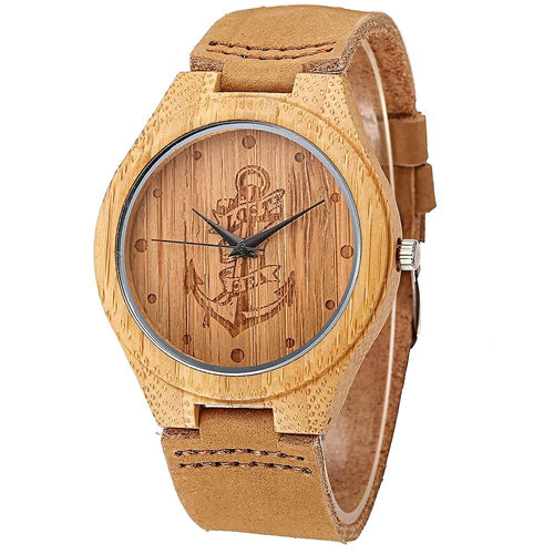 Lost At Sea Wooden Anchor Watch Unisex Nautical Watch Nautical Fashion