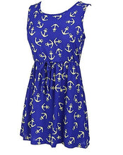 Summer Nautical Anchor Dress Nautical Fashion Style