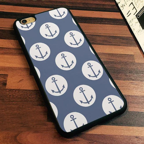 Blue Nautical Anchor Phone Case for iPhone 7 Nautical Phone Case