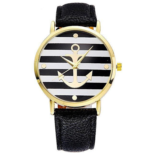 Stylish Leather Anchor Watch For Women