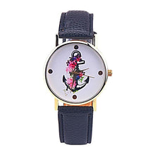 Vintage Flower Anchor Watch for Women Nautical Fashion