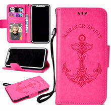 3D Embossed Anchor Phone Case Wallet Nautical Phone Case