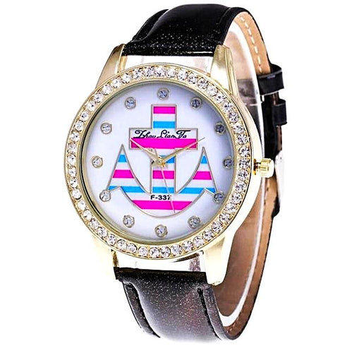 Nautical Style Diamond Anchor Watch for Women Nautical Fashion Style